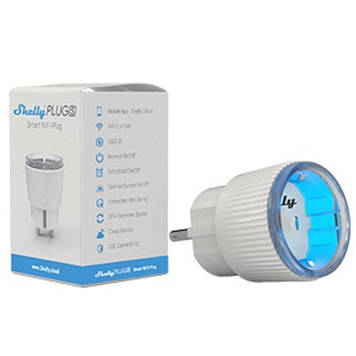 Умная розетка Wi-Fi Shelly Plug S с подсветкой 12А умный дом