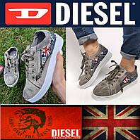 Женские текстильные низкие кеды Diesel, летние джинсовые кроссовки, мокасины, хайтопы, сникерсы