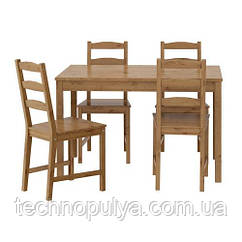 Комплект для кухни IKEA JOKKMOKK стол и 4 стула Коричневый (502.111.04)