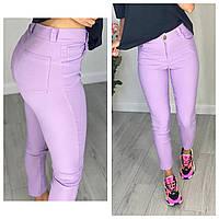 Женские стильные укороченые джинсы Батал, фото 1