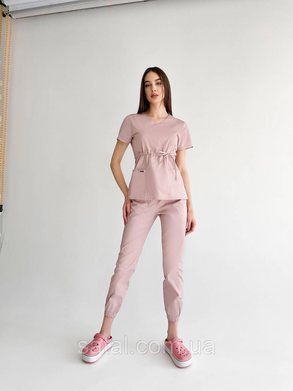 "Медицинский костюм ""Микато NEW"". Лиловый (розовый). Рукав короткий. ТМ Сатал"