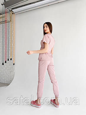 "Медицинский костюм ""Микато NEW"". Лиловый (розовый). Рукав короткий. ТМ Сатал, фото 2"