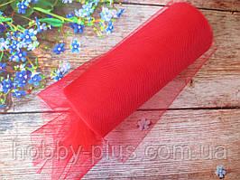 Фатин-сетка, ширина 15 см, цвет КРАСНЫЙ