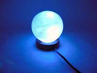 """Соляная лампа USB """"Шар"""" (S-02) (10х8х8 см) (12 шт ящ.) (Гималайская соль)"""