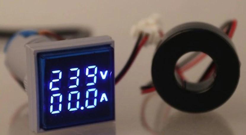 Цифровий Амперметр Вольтметр AC 60-500В 0-100A