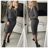 Женский стильный костюм юбка и свитер Норма, фото 1