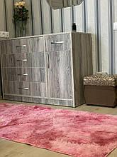 Ковер Травка меховой искусственный  100* 200 см Розовый