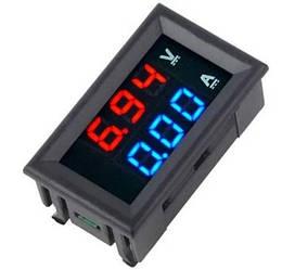 Цифровой вольтметр - амперметр 0-100V 0-10А