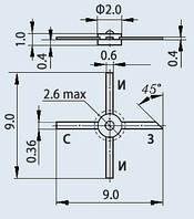 Транзистор полевой АП325А-2
