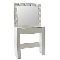 Туалетний столик з підсвіткою Bonro - B070 білий