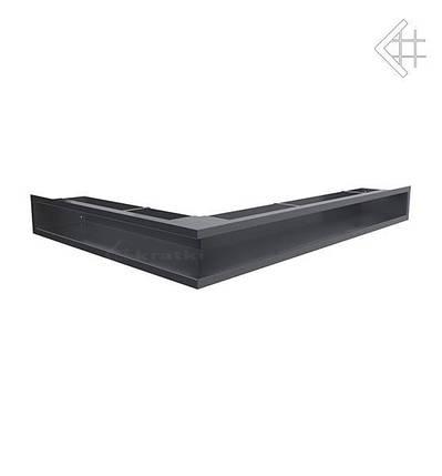 Вентиляционная решетка для камина KRATKI люфт угловая правая 547х766х90 мм графитовая, фото 2