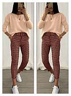 Жіночий стильний костюм, брюки і кофта Батал, фото 1