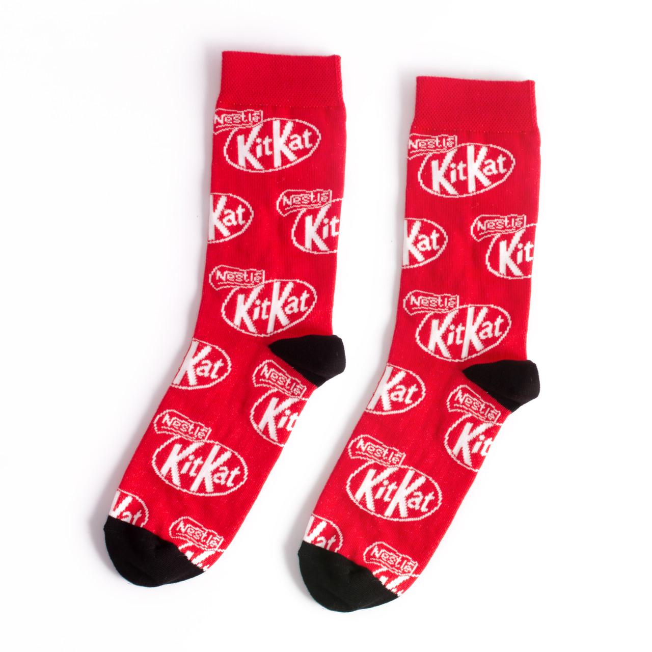 """Носки из высококачественного хлопка с оригинальным принтом """"KitKat"""""""