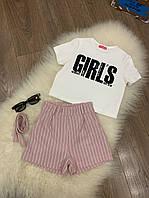 Літній костюм шорти і кофтинка для дівчинки (140-158р)