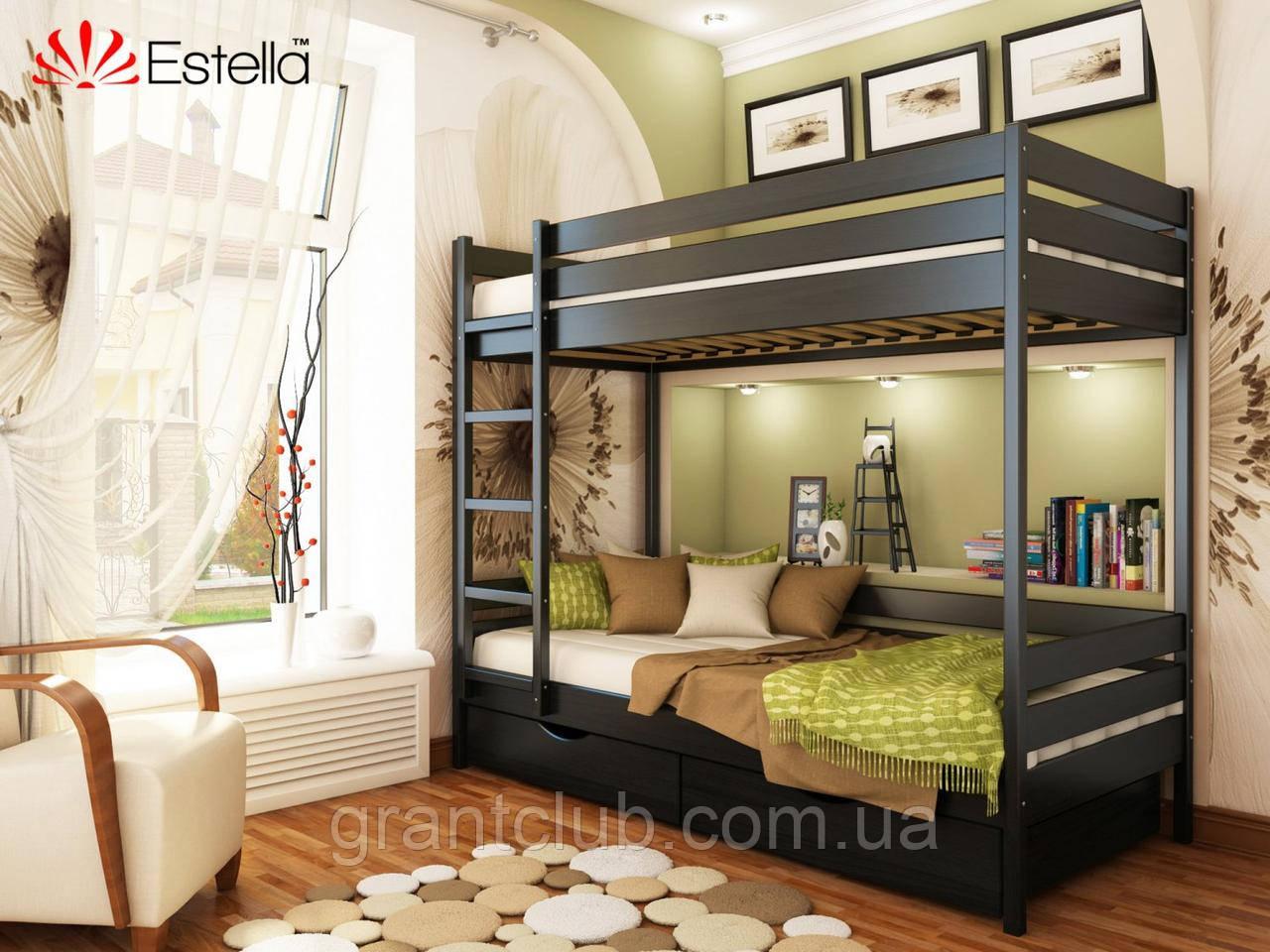 Двоярусне ліжко Дует 90х190 106 Масив 2Л25
