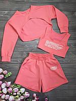 Модний літній костюм трійка для дівчинки 134,140 р