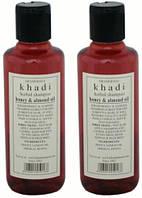 Шампунь Кхади Мёд и миндальное масло, shampoo Khadi honey & almond oil, 210 мл
