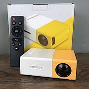 Портативный мини проектор YG-300 для дома смартфона лед led проэктор карманный домашний домашнего кинотеатра