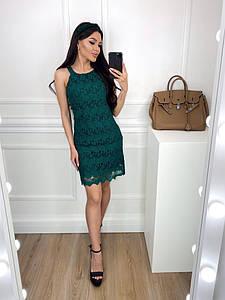 """Кружевное коктейльное мини-платье """"Люсия"""" на бретелях"""