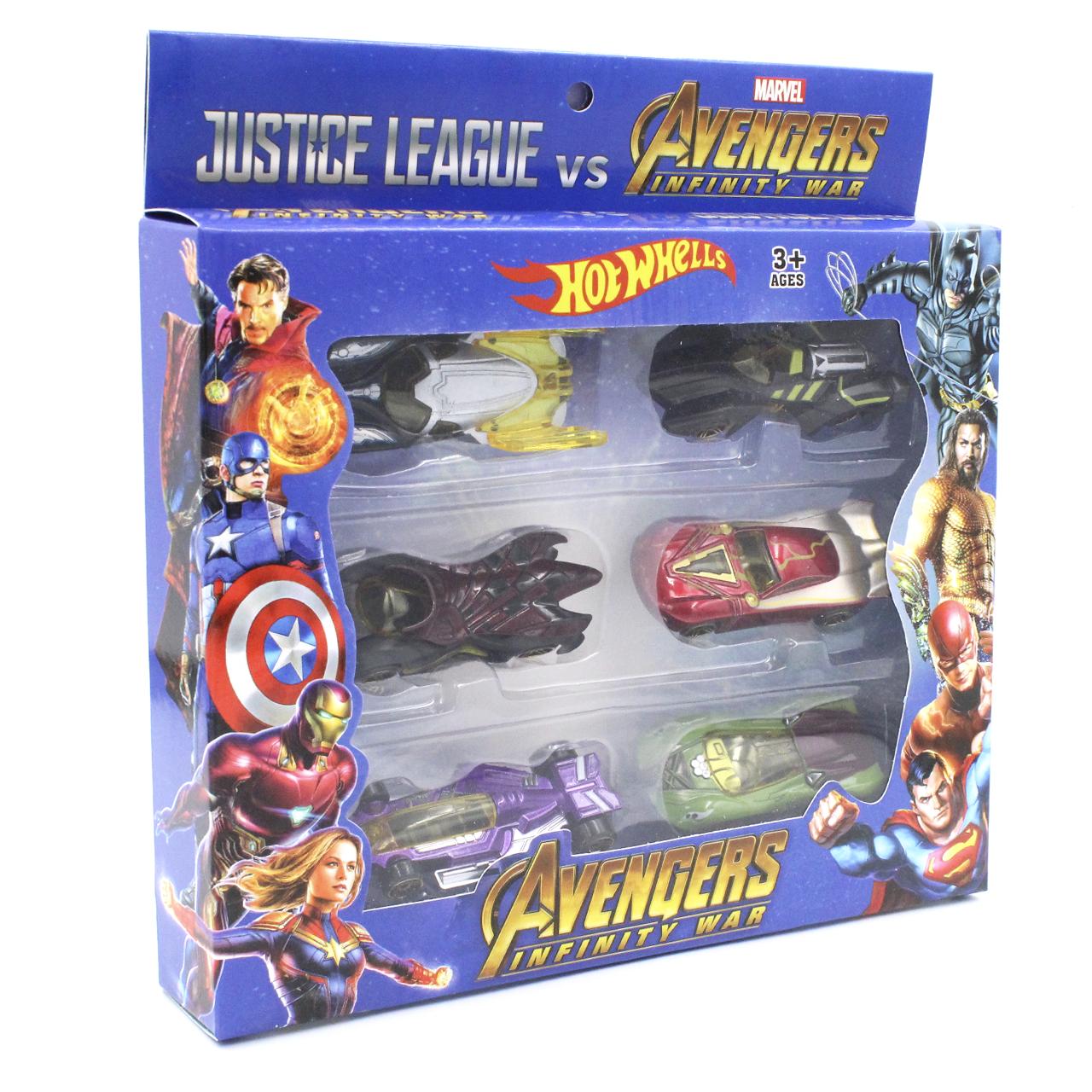 Набор машинки Hot Wheels Avengers металлопластик Хотвилс Мстители 6 в 1 (вид 2)