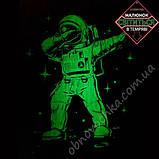 """Светящаяся футболка для подростков """"Космонавт"""" электрик рост 140-146, фото 2"""