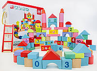 Детская деревянная развивающая игрушка конструктор город подарок для мальчика и девочки