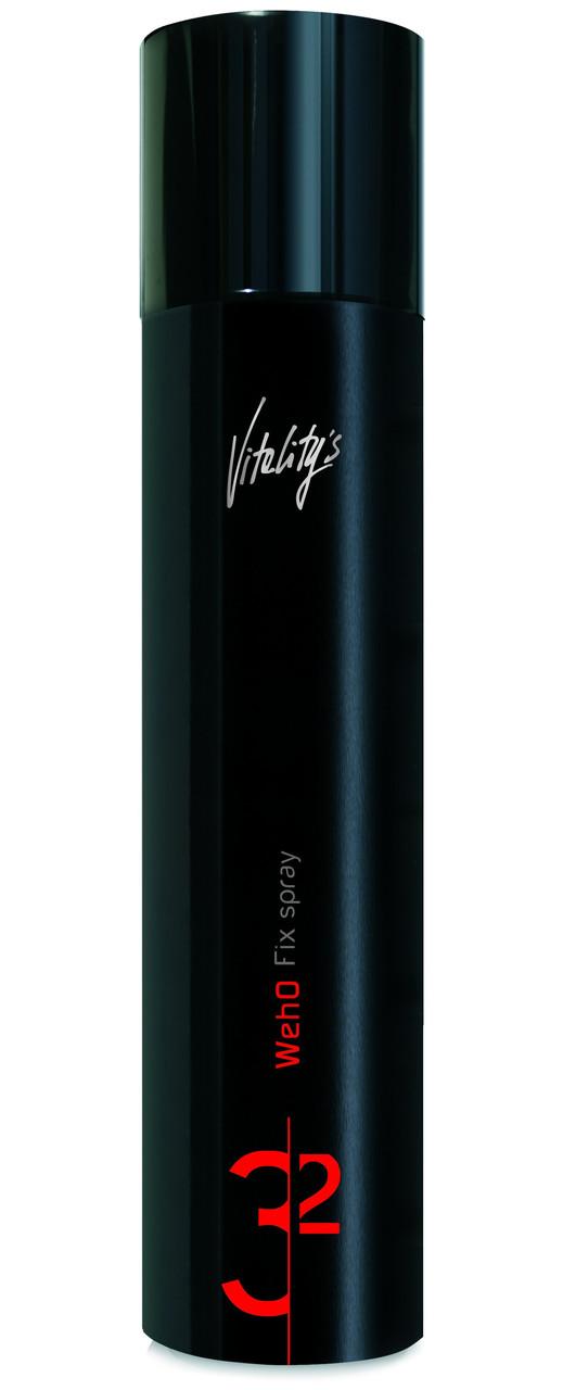 Лак-спрей сильной фиксации с УФ фильтром Vitality's Weho Fix spray 500 мл.