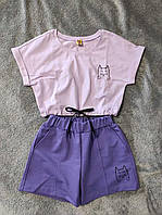 Літній костюм шорти і кофтинка для дівчинки (140-158р) 146