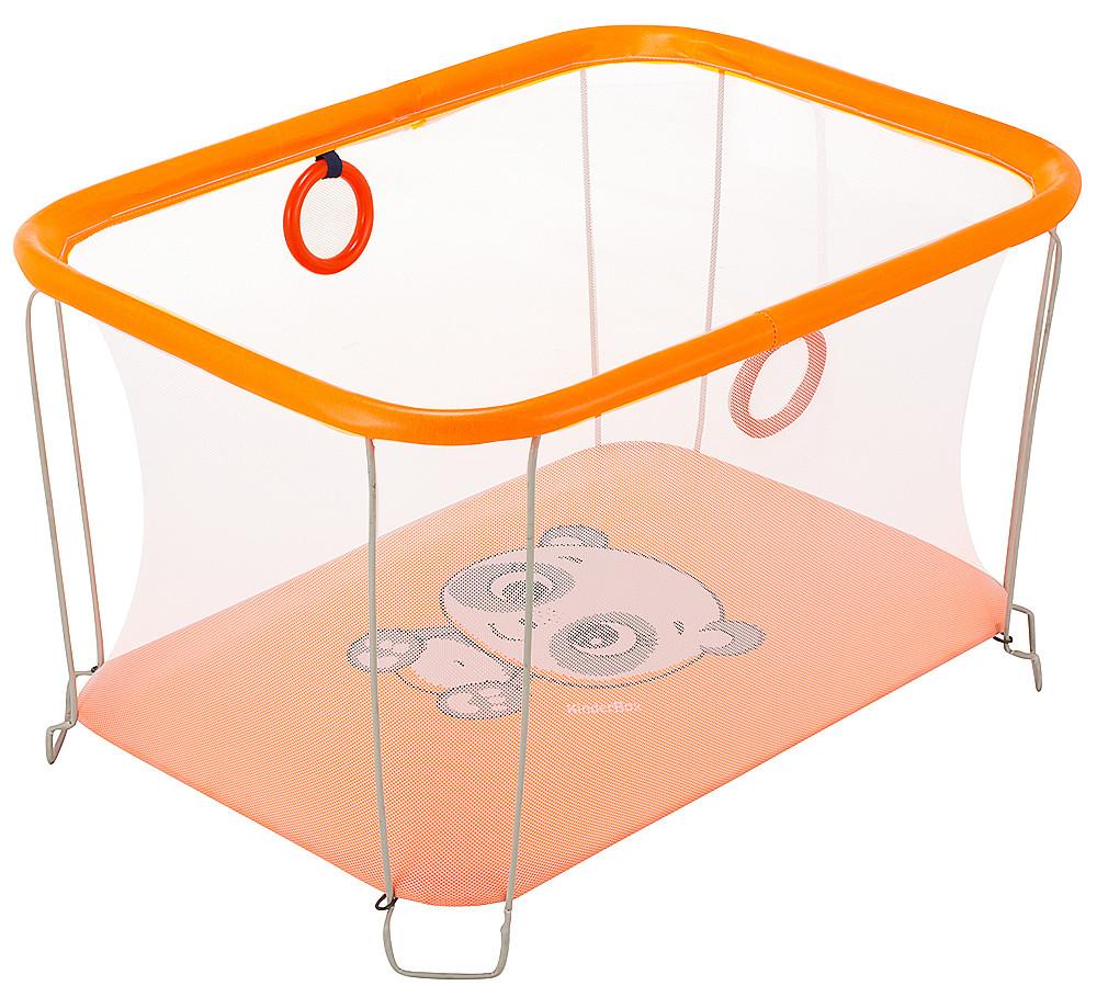 Манеж Qvatro Солнышко-02, мелкая сетка, оранжевый (panda) 624983