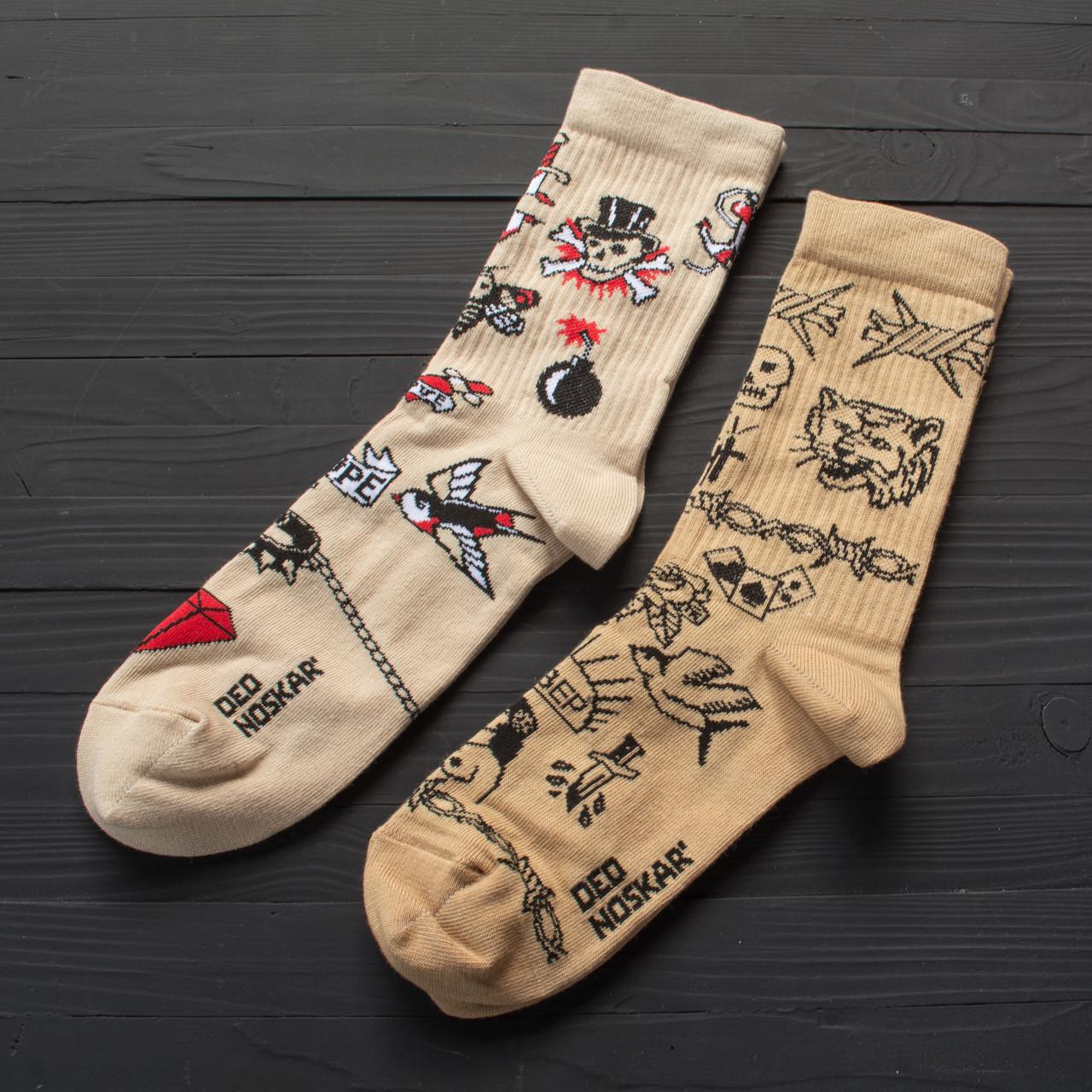 """Набір шкарпеток з високоякісної бавовни з оригінальними принтами """"Tattoo"""""""