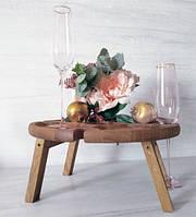 Дерев'яний сервірувальний стіл для вина Ø 40 см (дуб)