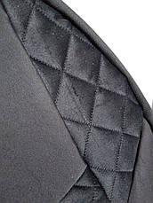 Чехлы на сиденья авто универсальные MAX алькантара (спинка деленка) Черный, фото 2
