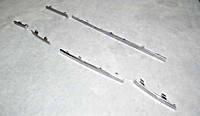 Молдинги переднего бампера (комплект /хром) Чери Амулет А15 / Chery Amulet A15 A15-2803510BC