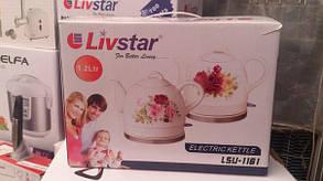 Электрочайник Livstar LSU-1161, 1,2 л. (керамический) 1200 Вт, фото 3