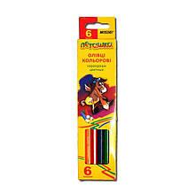 Олівці кольорові MARCO 6 кольорів №1010-6CB Пегашка