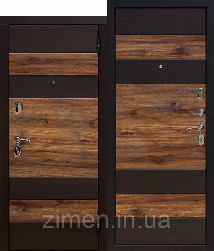 Входная дверь 9,5 см ОКСФОРД Венге темный / Дуб бомонд лофт