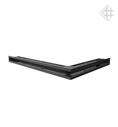 Вентиляционная решетка для камина KRATKI люфт угловая левая 766х547х60 мм SF графитовая, фото 2