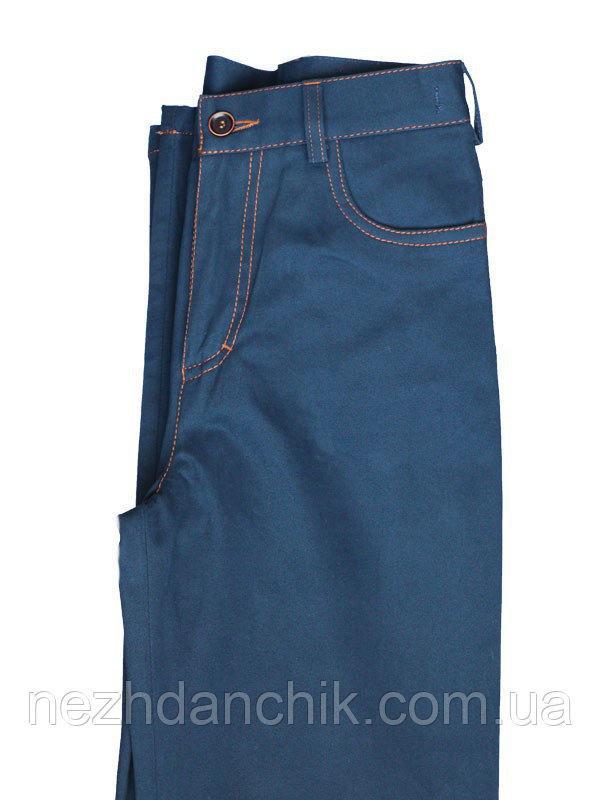 синие котоновые штаны для мальчика