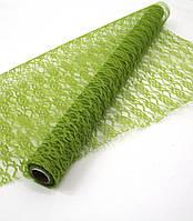 Салатовая Lace Lotus (сизаль для упаковки цветов и подарков)