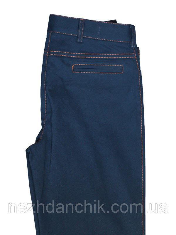 синие котоновые штаны для мальчика в школу
