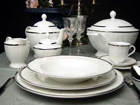 Сервиз чайный на 12 персон Luxor Платина