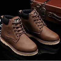 Мужские кожаные зимние ботинки модель 0482, фото 1