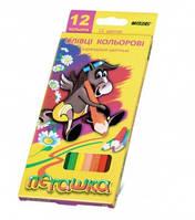 Карандаши цветные MARCO 12 цветов №1010-12CB Пегашка