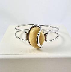 Браслет серебряный с янтарем 1067BRC2-m