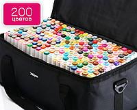 Маркеры TOUCH 200 цветов, самый большой набор маркеров для скетчинга на спиртовой основе для художников