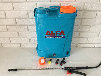 Опрыскиватель аккумуляторный AL-FA  16L ( Li-ion - батарея )