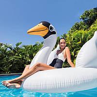 Пляжный надувной плот Intex 56287 «Белый лебедь», 194 x 152 х 147 см