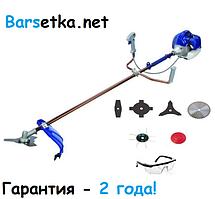Бензокоса Минск БГ-5700 (7 насадок, рюкзачный ремень, гарантия 2 года)