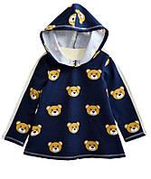 Платье-туника детское с капюшоном темно-синяя для девочки, рост 122