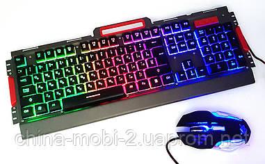 Ігрова клавіатура з мишкою K33 Led Gaming Keyboard+Mouse провідний комплект з RGB підсвіткою